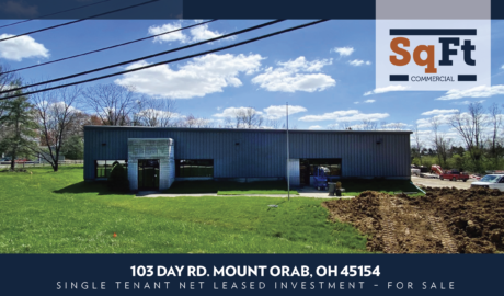 103 Day Rd. Mount Orab, OH 45154 – Single Tenant Net Leased Investment – For Sale